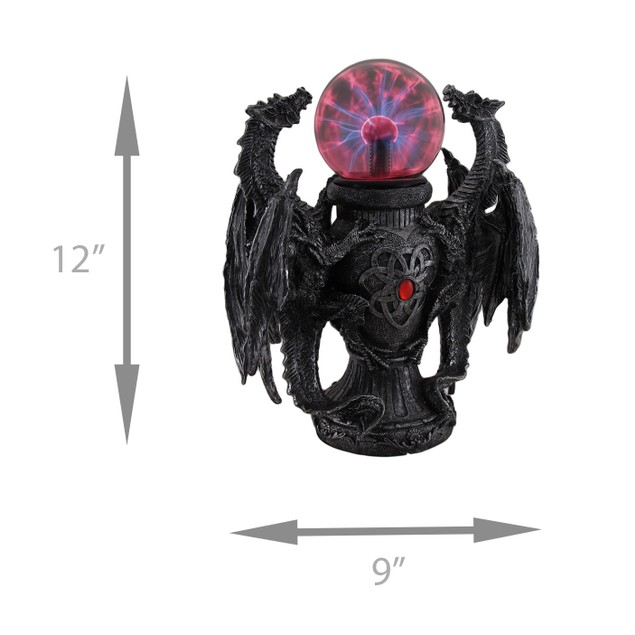 Twin Guardian Dragons Statue Saurian Plasma Gazing Statues