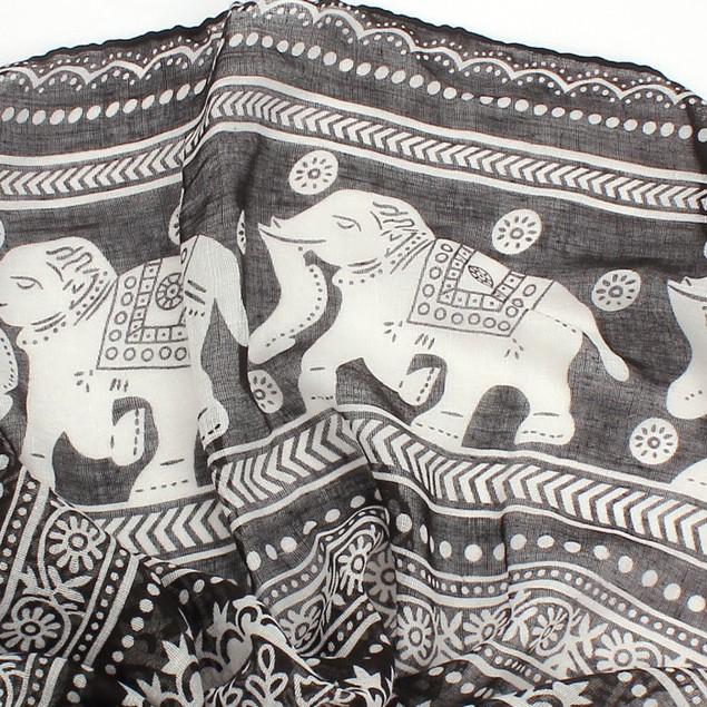 Women's Long Pashmina Elephant Scarf