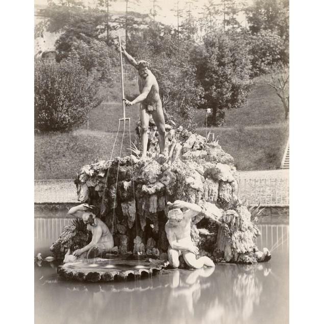 Florence: Boboli Gardens. /Nthe Fountain Of Neptune By Stoldo Lorenzi In Bo