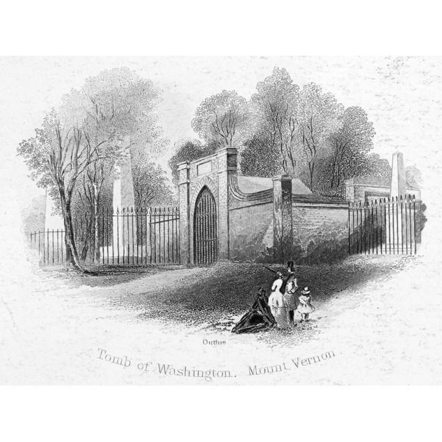 George Washington: Tomb. /Nthe Tomb Of George Washington At Mount Vernon, H