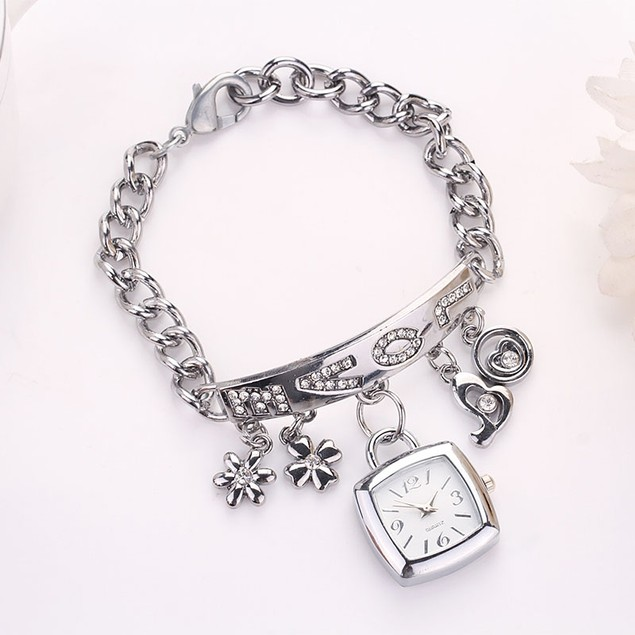 Women's Rhinestone Chain Bracelet Wrist Watch