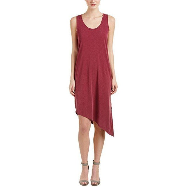 Splendid Women's Sandwash Layered Dress Cranberry Dress SZ  LG