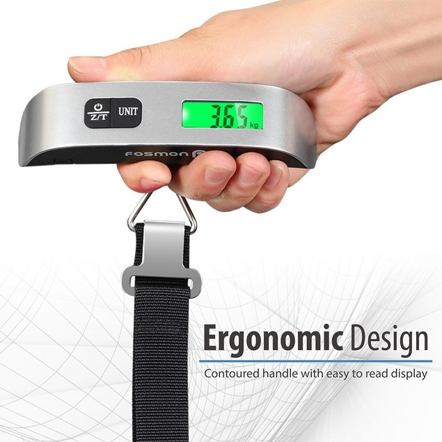 2-Pack Digital Display Luggage Scale for Travel - Weighs up to 110lb/50kg