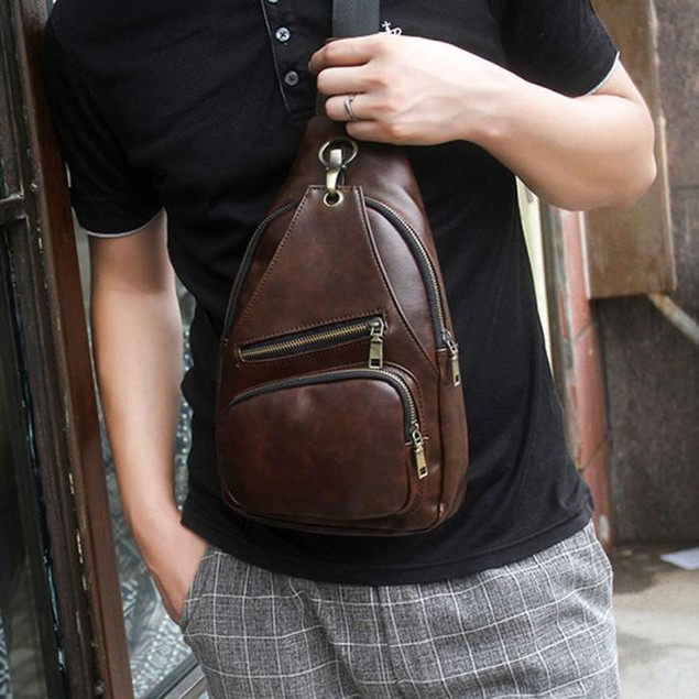 Men's Casual Chest Tote Bag
