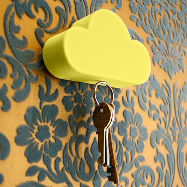 Creative Home Storage Holder White Cloud Shape Magnetic Magnets Key Holder
