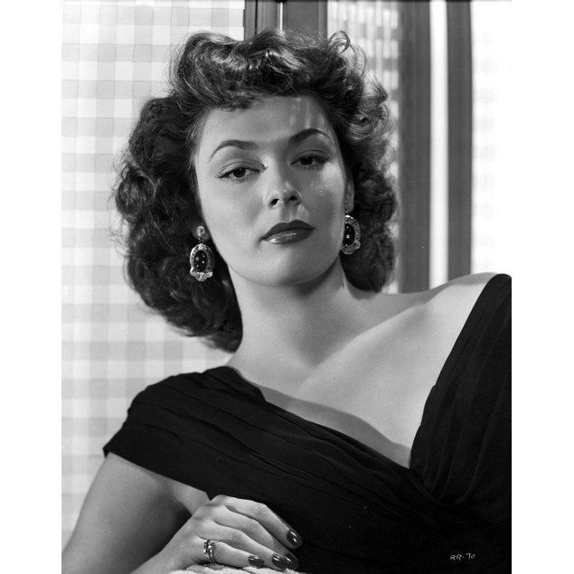 Ruth Roman Curly Hair in Black Gown Poster
