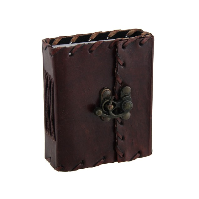 Leather Mini Journal With Brass Clasp Unlined 100 Art Sketchbooks And