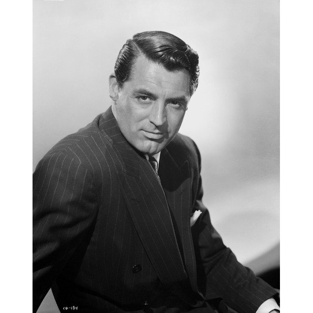 Cary Grant portrait in a pinstriped suit Poster