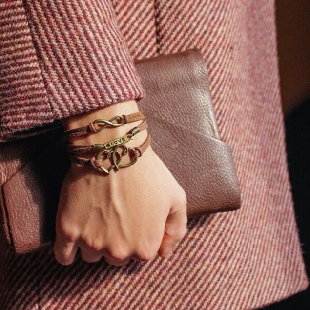 Florence Scovel- Vintage Double Heart Bracelet