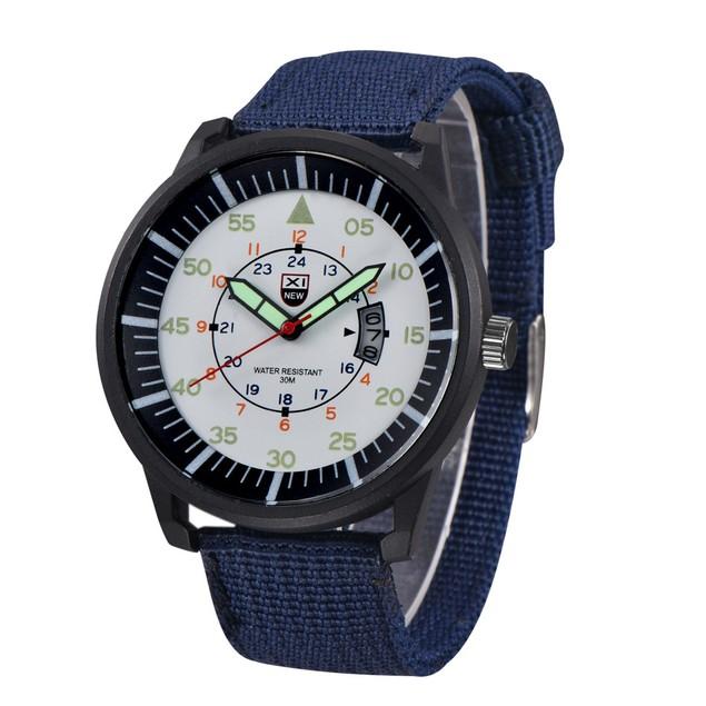 Military MEN Quartz Army Watch Black Dial Date Luxury Sport Wrist Watch 1