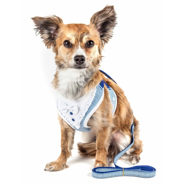 Pet Life Luxe 'Spawling' Adjustable Dog Harness-Leash W/ Fashion Bowtie