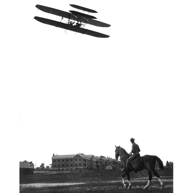 Wright Brothers Biplane. /Nthe Wright Brothers' Airplane At Fort Myer, Virg