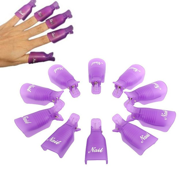 10-Pack UV Gel Polish Remover Manicure Tool - 4 Colors