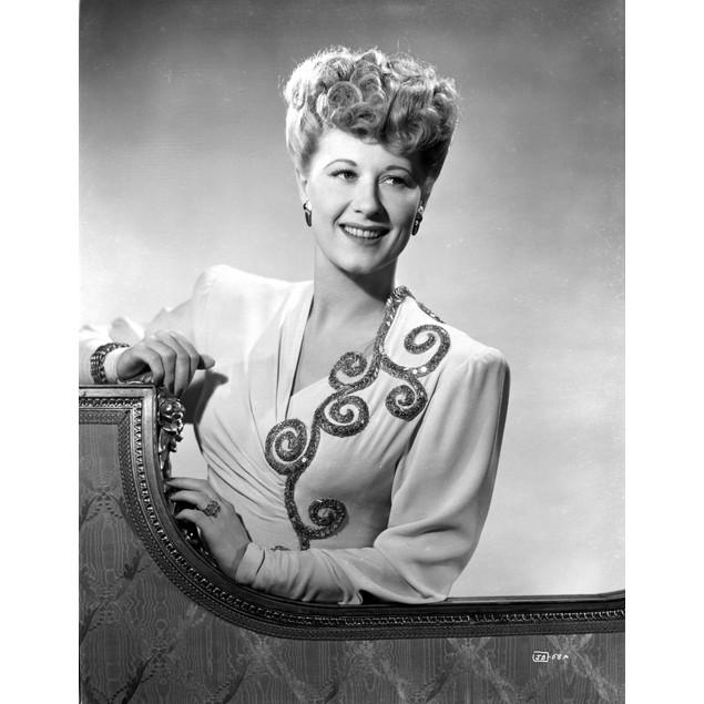 Joan Davis wearing a White Tunic Poster