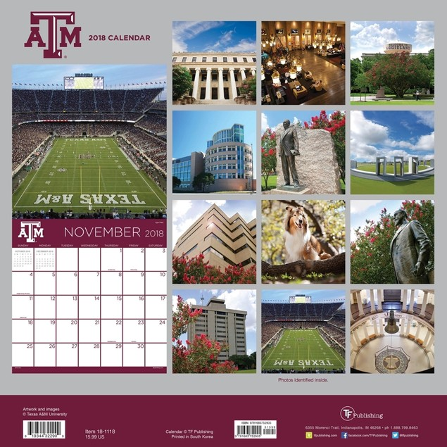 Texas A&M University Wall Calendar, Texas A&M Aggies by TF Publishing