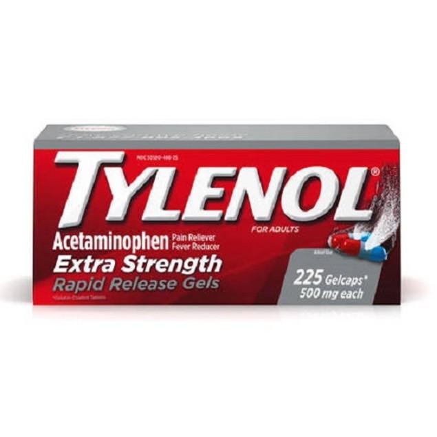 Tylenol Extra Strength Rapid Release Gels 225 Count Bottle
