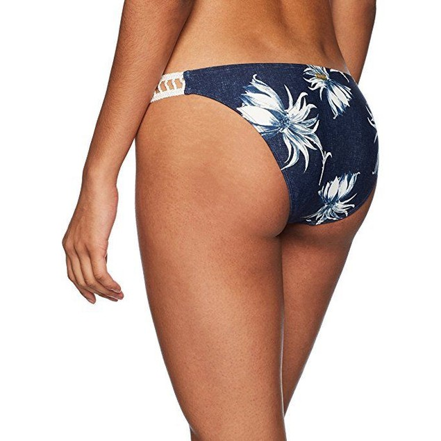 Roxy Women's Hippy Hour Base Girl Swimsuit Bikini Bottom SZ L