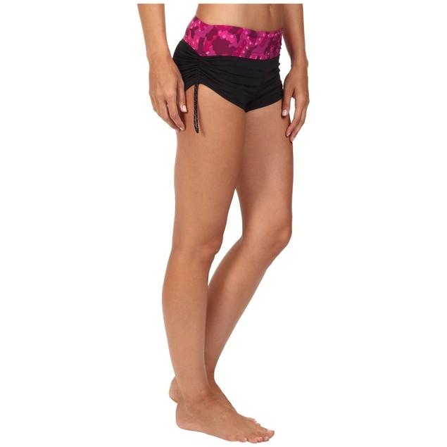TYR Cadet Active Mini Boyshorts Swim Bottoms Black/ Pink BCAB7A Size X