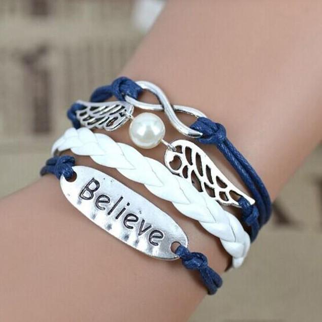 Florence Scovel- Infinity Angel Believe Bracelet