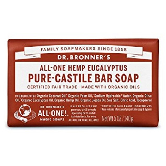 Dr. Bronner's All-One Hemp Eucalyptus Pure-Castile Soap Bar