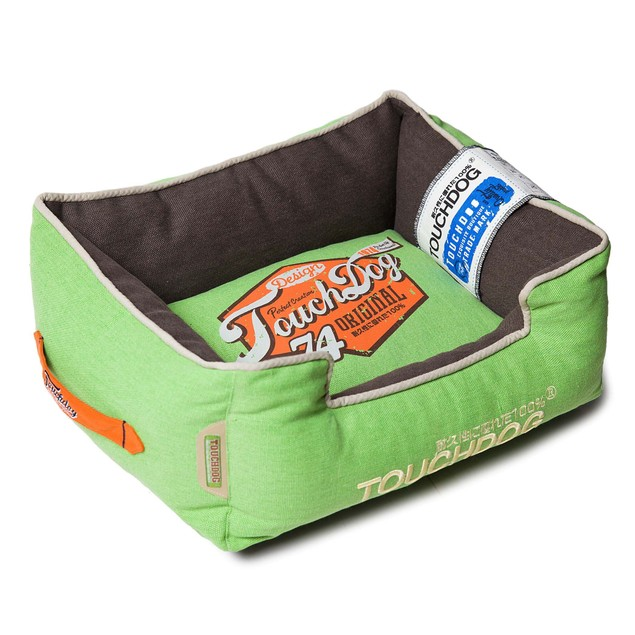 Touchdog Original Sporty Vintage Reversible Plush Rectangular Dog Bed