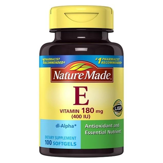 Nature Made Vitamin E 400IU 100 Softgels Bottle