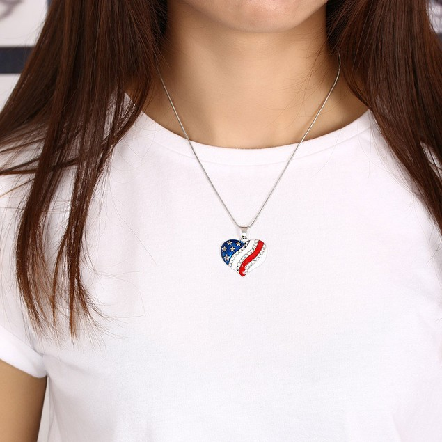 USA Star/Heart Shaped Pendant