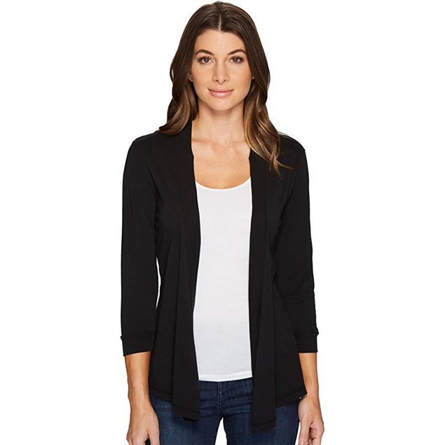 Mod-o-doc Women's Mid Sleeve Cardigan Black Small