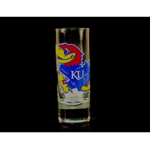 """Kansas Jayhawks NCAA """"Hype"""" Tall Shot Glass"""