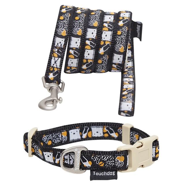Touchdog 'Caliber' Designer Embroidered Pet Dog Leash And Collar