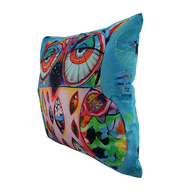 Allen Designs Pretty Big Eyes Decorative Owl Throw Throw Pillows