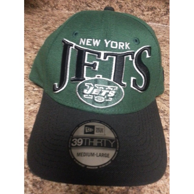 """New York Jets NFL New Era 39Thirty """"Coin Toss"""" Stretch Fitted Hat"""