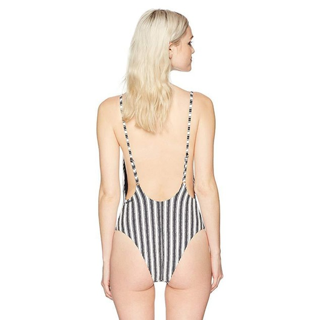 Billabong Junior's Get in Line One Piece Swimsuit, Multi, M