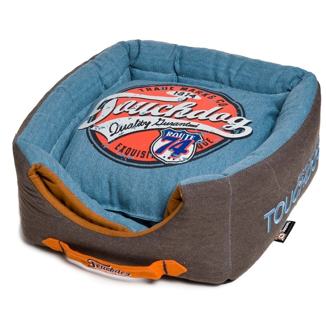 Touchdog 2-in-1 Squared Collapsible Dog House Bed