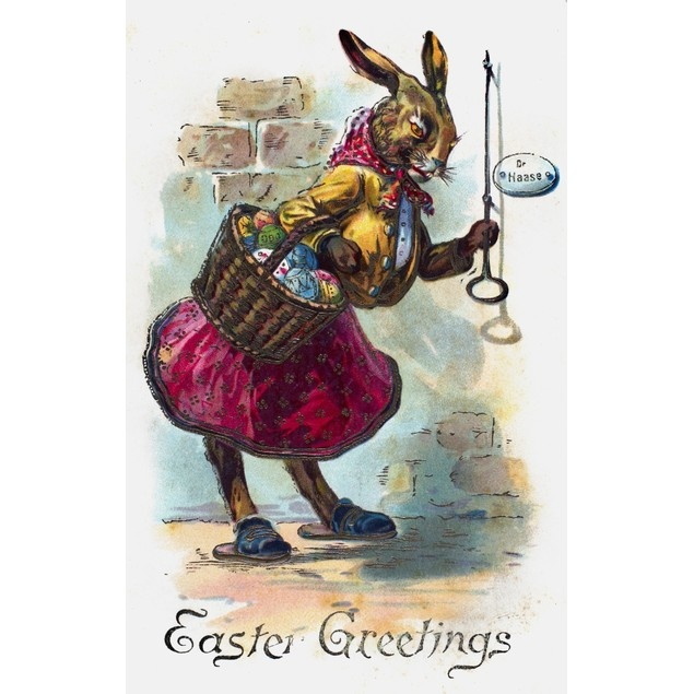 Easter Card. /Npostcard, 19Th Century. Poster