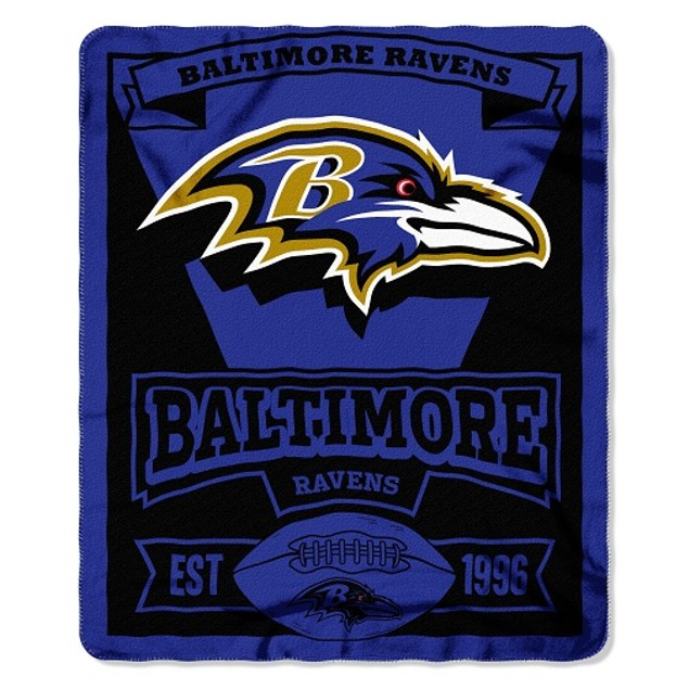Baltimore Ravens NFL Northwest Fleece Throw