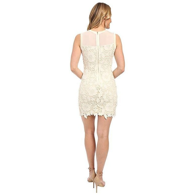 KUT from the Kloth Women's Illusion Lace Dress Ivory/Nude 12