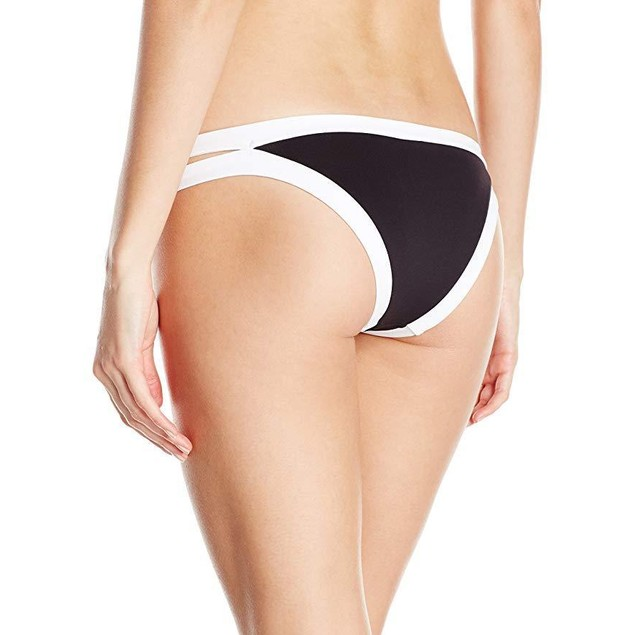 Seafolly Women's Block Party Brazilian Bikini Bottom, Black, Sz 4