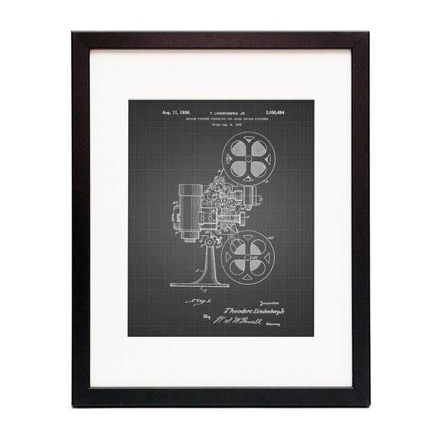 Movie Projector 1933 Patent Poster