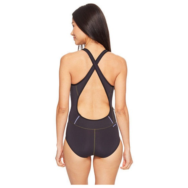 NEW Women's Prana Eleana Black One-Piece Swimsuit SIZE SMALL