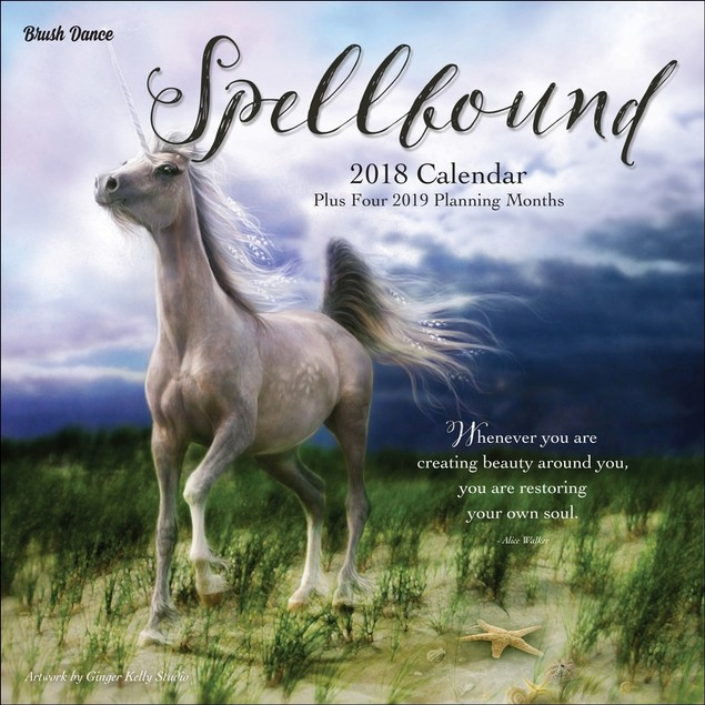 Spellbound Mini Wall Calendar, Fantasy Art by Brush Dance
