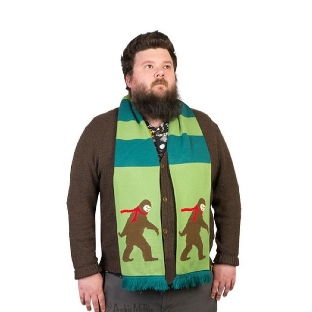 Bigfoot Scarf Forest Green Winter Cold Adult Child Costume Accessory