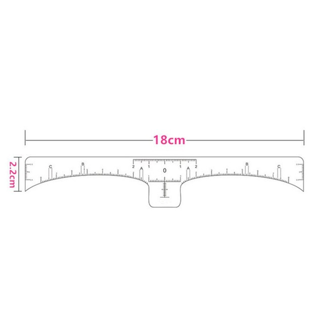 Disposable Eyebrow Stencil Microblading Measure Tattoo Ruler Beauty Tool