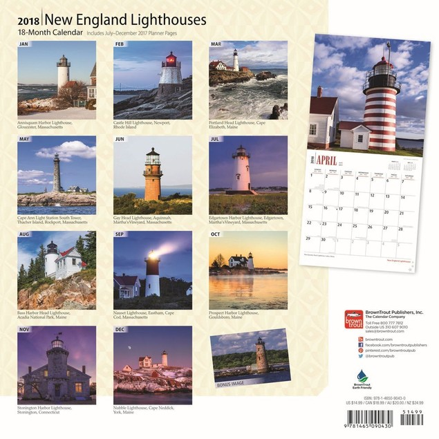 Lighthouses New England Wall Calendar, Lighthouse by Calendars
