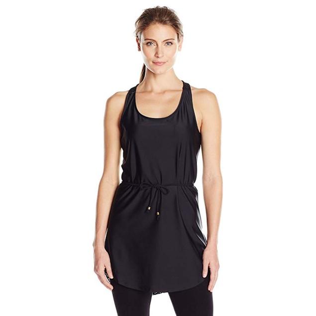 prAna Women's Eisley Tunic Top, Medium, Solid Black