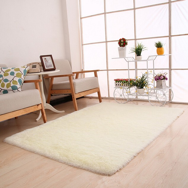 Fluffy Rugs Anti-Skid Shaggy Area Rug Home Carpet Floor Mat