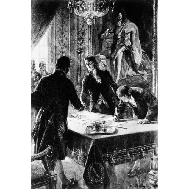 Louisiana Purchase, 1803. /Nthe Signing Of The Louisiana Purchase By (Left