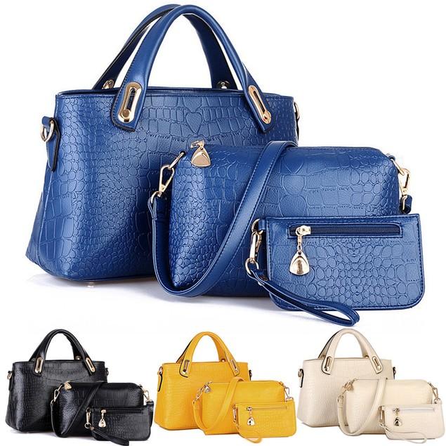 Women Handbag+Shoulder Bags +Tote Purse Leather Messenger Bag