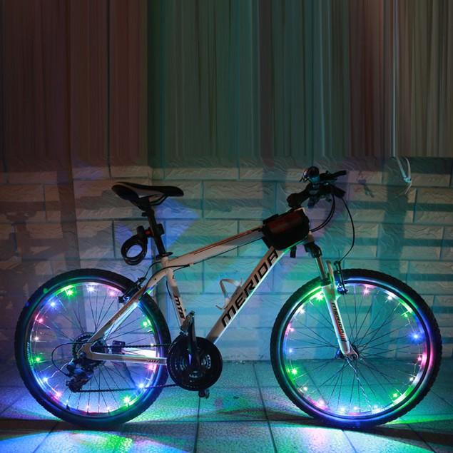 2M/20LED Motorcycle Bicycle Wheels Spoke Flash Light Lamp