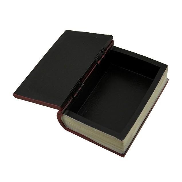 Dark Red Embossed Tree Of Life Book Look Trinket Decorative Boxes